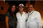 Sergio Perez (Sauber) mit Schwester und Vater