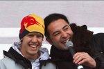 Sebastian Vettel (Red Bull) und Comedian Bülent Ceylan