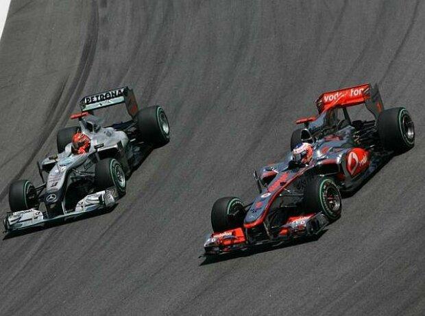 Jenson Button, Michael Schumacher