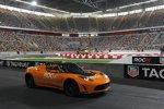 Erste Testrunden mit dem Tesla Roadster