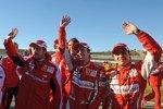 Fernando Alonso, Luca Badoer und Felipe Massa(Ferrari)