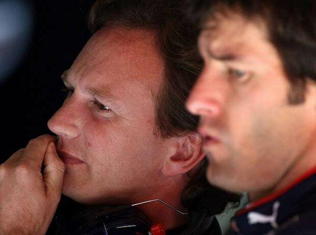 Christian Horner und Mark Webber
