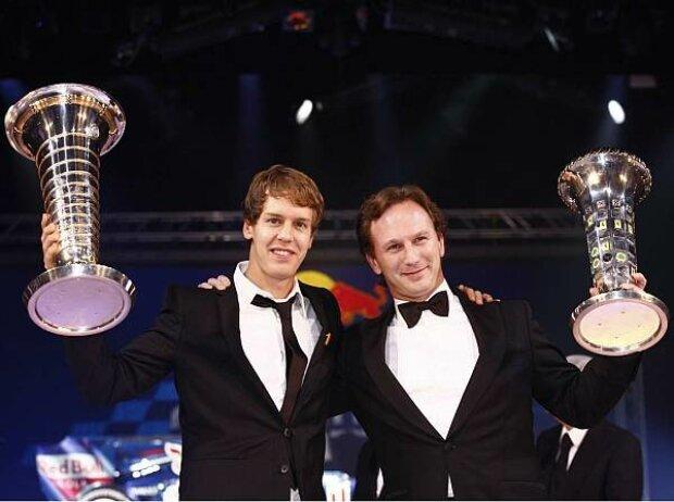 Sebastian Vettel und Christian Horner