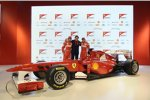 Fernando Alonso, Lapo Elkann und Felipe Massa (Ferrari)