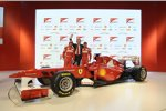 Fernando Alonso, Luca di Montezemolo (Präsident) und Felipe Massa (Ferrari)