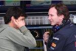 Mark Webber (Red Bull) Christian Horner (Teamchef)