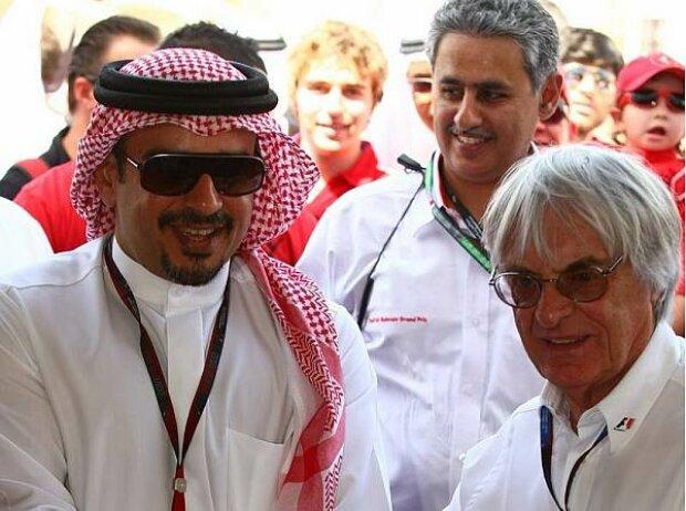 Kronprinz Salman ibn Hamad ibn Isa Al Chalifa und Bernie Ecclestone