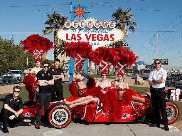 Ryan Hunter-Reay, Marco Andretti, Ryan Briscoe, Will Power