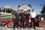 Ryan Briscoe, Will Power, Marco Andretti und Ryan Hunter-Reay