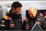 Mark Webber (Red Bull) und Adrian Newey (Technischer Direktor)