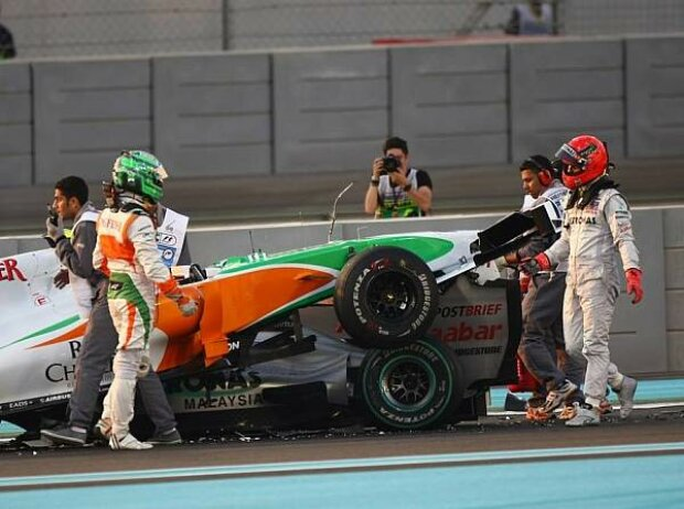 Vitantonio Liuzzi, Michael Schumacher