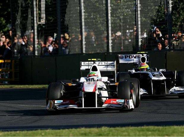 Sergio Perez vor Pastor Maldonado