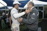 Sergio Perez mit Teamchef Peter Sauber