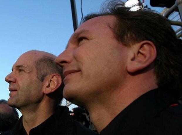 Adrian Newey (Technischer Direktor), Christian Horner (Teamchef)