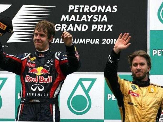 Sebastian Vettel und Nick Heidfeld
