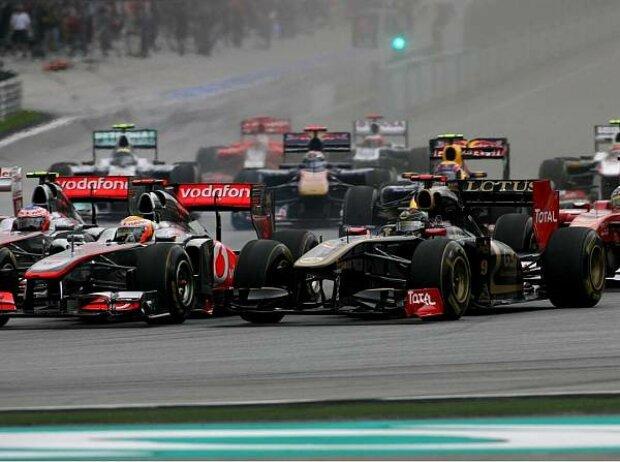 Lewis Hamilton und Nick Heidfeld