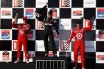 Die Top 3 im Rennen: Will Power, Scott Dixon, Dario Franchitti