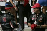 Mike Conway (Andretti) und Teamchef Michael Andretti in der Victory Lane