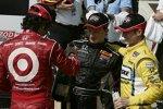 Dario Franchitti (Ganassi), Mike Conway (Andretti), Ryan Briscoe (Penske)
