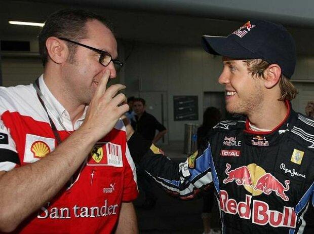Sebastian Vettel, Stefano Domenicali (Teamchef)