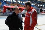 Jean Todt und Stefano Domenicali (Teamchef) (Ferrari)