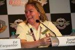 Sarah Fisher: Gute Laune nach der Bestzeit