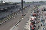Der mächtige Indianapolis Motor Speedway am Fast Friday