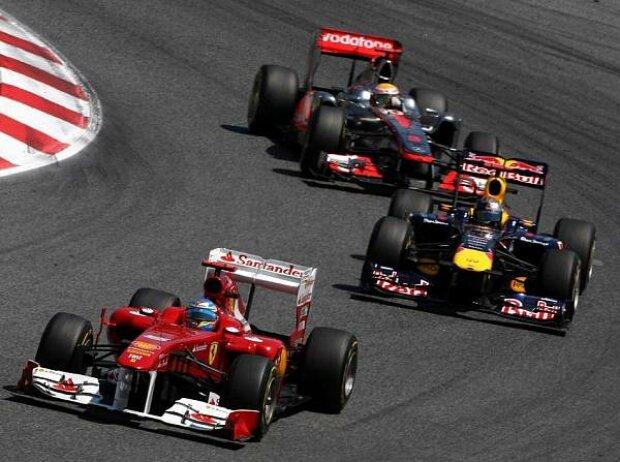 Fernando Alonso, Sebastian Vettel, Lewis Hamilton