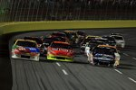 Three Wide: Kyle Busch (Gibbs) Jeff Gordon (Hendrick) Carl Edwards (Roush)