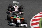 Adrian Sutil (Force India) und Sergio Perez (Sauber)