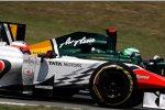 Narain Karthikeyan (HRT) und Heikki Kovalainen (Lotus)