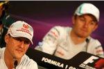 Michael Schumacher (Mercedes) und Nico Rosberg (Mercedes)