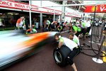Force India übt Boxenstopps