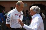 Peter Sauber (Teamchef) und Bernie Ecclestone (Formel-1-Chef)