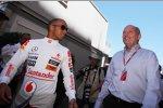 Lewis Hamilton (McLaren) und Ron Dennis