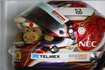 Der Helm und das Maskottchen von Kamui Kobayashi (Sauber)