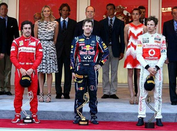 Fernando Alonso, Sebastian Vettel, Jenson Button