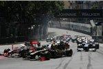 Jenson Button (McLaren) und Witali Petrow (Renault)