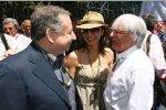 FIA-Präsident Jean Todt und Bernie Ecclestone (Formel-1-Chef)