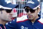 Rubens Barrichello und Pastor Maldonado (Williams)