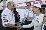 Peter Sauber (Teamchef) und Kamui Kobayashi (Sauber)