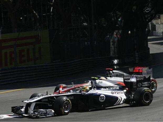 Pastor Maldonado und Lewis Hamilton