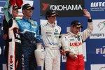 Alain Menu (Chevrolet), Norbert Michelisz (Zengö) und Javier Villa (Proteam) mit Aleksei Dudukalo (Lukoil-Sunred)