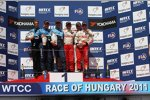 Yvan Muller (Chevrolet), Robert Huff (Chevrolet), Gabriele Tarquini (Lukoil-Sunred) und Franz Engstler (Engstler)