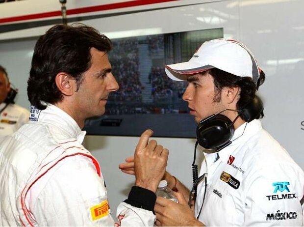 Pedro de la Rosa und Sergio Perez