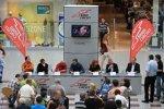 Pressekonferenz mit Marcello Lotti und einigen Fahrern