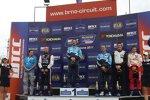 Das Podium nach dem zweiten Rennen um Sieger Yvan Muller (Chevrolet)
