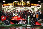 Das siegreiche Andretti-Team in der Victory Lane