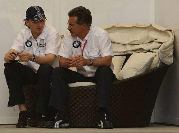 Robert Kubica und Mario Theissen