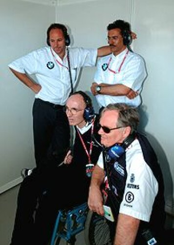 Gerhard Berger, Mario Theissen, Frank Williams und Patrick Head